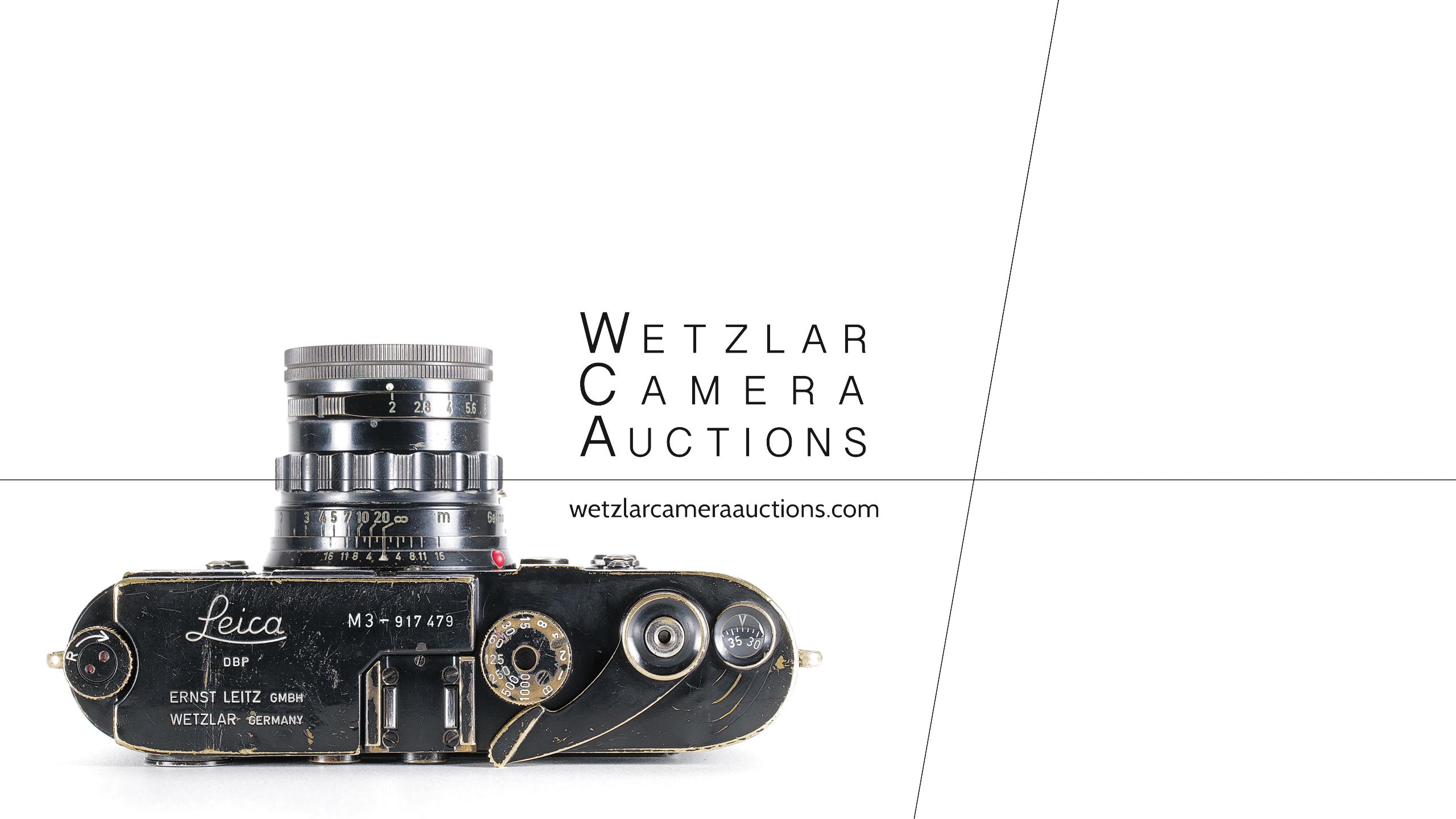 Wetzlar Camera Auctions - Leica M3 Black Paint - October 09th 2021